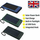 EXTERNAL SOLAR POWER BANK BATTERY PACK FAST CHARGE For LENOVO TAB 4 8+ PLUS