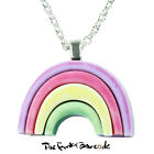 TFB - PASTEL RAINBOW PENDANT NECKLACE QUIRKY NOVELTY GIFT FUNKY GIRLS SKY FUN