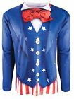 Instantly Patriotic Printed T-Shirt Adult USA Uncle Sam Halloween Costume MD-XL