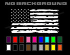 Distressed US American Flag Decal Tattered USA - Car Truck Window Wall Decor