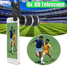 8X Optical Zoom HD Telescope Camera Clip on Lens For Mobile Phone Telephoto UK