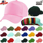 Plain Solid Washed Cotton Polo Style Hats Baseball Ball Cap Caps Hat Adjustable
