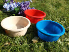 """Qty of 2 Plastic Crock-Type Pet Dog Cat Food Dish Water Bowl 6"""" W. Holds 2 Cups"""