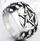 Personality Gothic Punk New Fashion Jewelry Silver Ghost Claws Star Band Rings