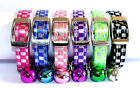 Pet Cat Collar Check Plaid Print Safety Elastic with Bell 5 Colours Free Postage