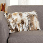 Real Rabbit Fur Pillow Case Cover Sofa Waist Cushion Cover Chic Good Home Decor