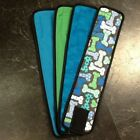 4pk Male Dog Diaper BLUE BONES, TEAL, BUBBLES, GREEN Belly Band Sz XS-XL
