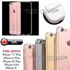 For iPhone 7 Plus 6 6S Plus 5S SE Clear Soft Cover Case TPU Silicone Jelly Skin