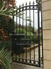"ROYAL GATE ANY SIZE HEAVY METAL WROUGHT IRON 36"" OP X 6FT TALL ORNATE LOCK"