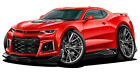 2017-2018 Chevy Camaro ZL-1 Wall Decal Sports Car Chevy Sticker Graphic Wall Art