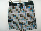 Mens Fyasko Boardshorts w/Geometric Print Size 32 or 34 Excellent Condition