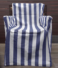 DIRECTORS CHAIR COVER STRIPED CHOOSE BETWEEN NAVY/ WHITE OR BEIGE/WHITE STRIPES