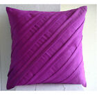 "Contemporary Fadango - Pink 16""x16"" Faux Suede Pillowcase"