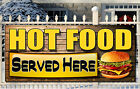 HOT FOOD BANNERS PRINTED OUTDOOR SIGN CATERING PUB RESTAURANT SNACK BAR BANNER