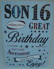 Son 16th birthday Card lovely Verse