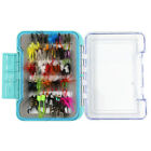 12/62/94pcs Assorted Dry Wet Fly Fishing Lures Dry Flies Kit Bass Trout Tackle