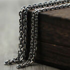 """Real Solid 925 Sterling Thai Silver Classical Cuboid Chain Men Necklace 18""""-32"""