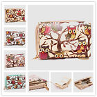 Ladies Oilcloth Owl Butterfly Wallet Purse