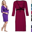 Happy Mama. Women's Maternity Nursing Breastfeeding Nightdress Shirt Gown. 255p