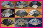 Japan Folding Hand Fan : Sensu :Hokusai, Mt Fuji, Dragon,Thunder god,Sakura,etc