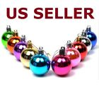 glitter christmas tree - 24pcs Glitter Christmas Balls Baubles Tree Hanging Ornament Wedding Party Decor
