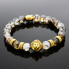 8MM Owl Buddha Beaded Natural Lava Stone Gold Silver Charm Fashion Men Bracelets фото