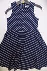 Girls dress M & S age 6 7 8 9 10 11 12 13 14 years NEW navy chevron party