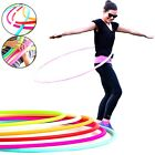 SOLID MULTICOLORED HULA HOOPS CHILDREN ADULTS EXERCISE GYM GARDEN OUTDOOR 55 cm