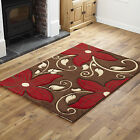 SMALL MEDIUM LARGE EXTRA LARGE BROWN RED STYLISH UNIQUE FLOWERY DESIGN RUG SALE