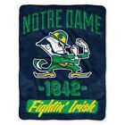 "NCAA SOFT FLEECE THROW 50""x 60"" BLANKET NEW COLLEGE FOOTBALL PICK YOUR TEAM"