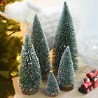 Mini Christmas Tree Snow Holiday Festival Gift Party Home Office Ornament Decor