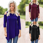 Boho Women Causal Long Sleeve Off Shoulder Solid Shirt Top Blusas Blouse