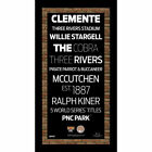 Steiner Sports MLB Subway Sign with Field Dirt Pittsburgh Pirates