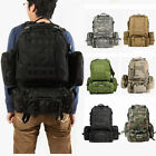 50L Military Tactical Backpack Hiking Camping Travel Outdoor Shoulder Bag LOT #A