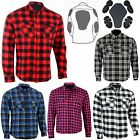 Motorcycle Cotton Flannel Lumberjack DuPont™ KEVLAR® Shirt with CE armour RED