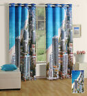Beautiful Building Printed Eyelet Polyester Window/ Door / Blackout Curtains