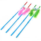 WONPET Pet Cat Teaser Wand with Rattle Feather Stripe Ball Kitten Activity Toy