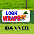 Chicken & Beef Wraps Concession Stand Mexican Food Advertising Vinyl Banner Sign