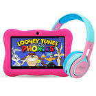 "Contixo 7"" Kids Tablet + Bluetooth Wireless Headphones Headset Earbud Boys Girls"