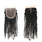 Kinky Curly Lace Frontal Closure 4*4 Free Part 100% Virgin Curly Hair Extensions