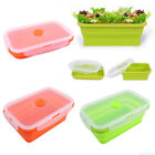 2 color 750ml Silicone Collapsible Portable Lunch Box Folding Food Containers!