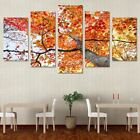 red leaf maple tree pictures - AUTUMN FALL 5 panel canvas art print maple tree red yellow leaves canvas picture