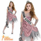 Teen Zom Queen Costume Girls Prombie Halloween Fancy Dress Horror Prom Outfit