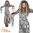 Adult Graveyard Zombie Costume Ladies Halloween Corpse Bride Fancy Dress Outfit