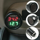 1x 2-in-1 LED Auto Digital Voltmeter Thermometer Spannungsanzeige DC12-24V