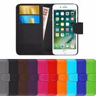 BOOK WALLET PU Leather Flip Wallet Book Case Cover Pouch For Apple iPhone 8
