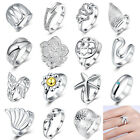 Charm Women 925 Silver Plated Ring Engagement Wedding Party Jewelry Gift Size 8