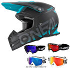 ONeal 5series Blocker black teal  Helm Crosshelm MX Motocross Cross HP7 Brille