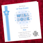 Personalised Handmade Well Done Card CS002 / Congratulations Exams Blue Male