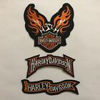 Motorcycles logo HD Embroidered Badge Iron On / Sew On Clothes Jacket Jean